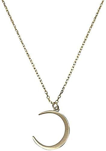 NC198 Collar Moda Dulce Luna Joyería Temperamento Creciente Clavícula Cadena Collares Pendientes