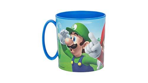 3533; taza microondas Super Mario Bros; producto reutilizable; apto para microondas. No BPA; capacidad 350 ml