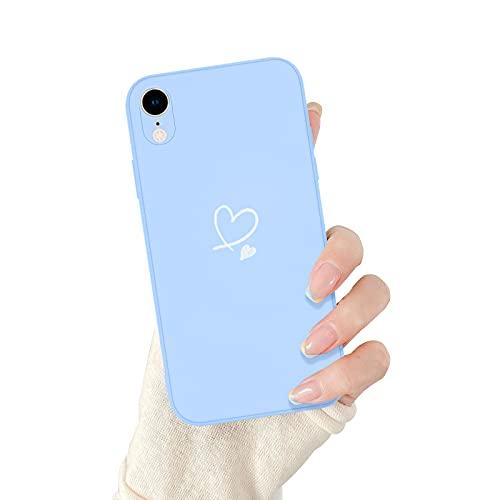 Newseego Coque Compatible avec iPhone XR, 3D Cute Love Pattern Coque de Protection en Silicone Liquide Mince pour Les Filles et Les Femmes Coque de Protection complète et Flexible pour iPhone XR.