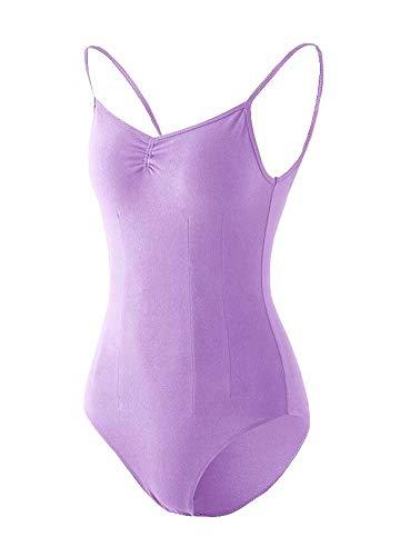 Black Temptation Costume de Gymnastique Femme Dancewear Combinaison de survêtement Ballet Topwear Court Purple