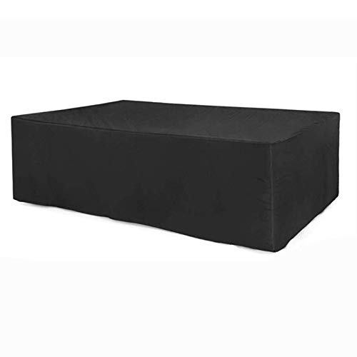 ZQIAN Garden Furniture Covers 200x160x70cm Waterproof Patio Table Covers Snow Dust Windproof, Anti-UV, for Cube Set, Patio, Outdoor, Black
