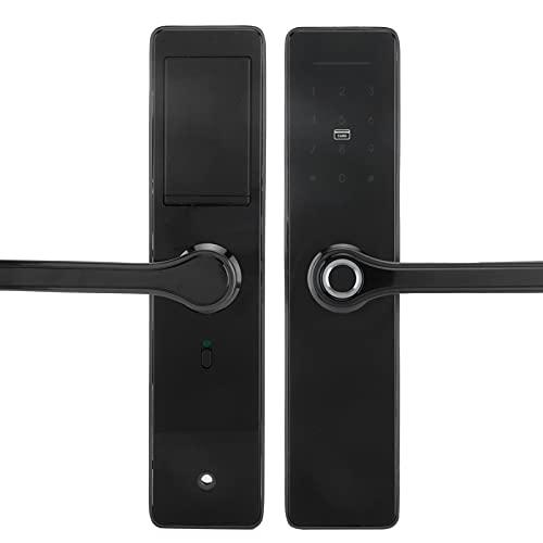 WiFi Fingerprint Door Lock IC Card Password Key APP Multiple Unlocking Methods Smart Door Lock Remote Control Digital Biometric Auto-Lock Door Lock for TUYA