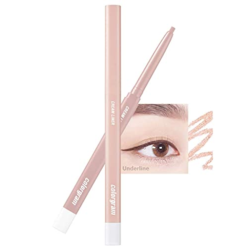 COLORGRAM Artist Formula Cream Liner 0.25g 8 Colors - True Beauty K-Drama Makeup, Intense Color with Smooth Texture, Rich Cream Formula, Long-Lasting without Smudging (#03 Candy)