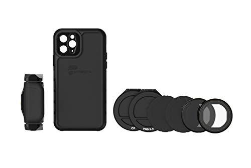 PolarPro LiteChaser Pro Visionary - Kit de visión para iPhone 11 Pro (Incluye Funda, Mango, Filtro polarizador y Filtro VN)