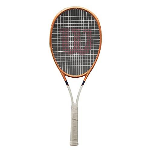 Racchetta da tennis Professionale Racchetta Professionale per Adulti Racchetta Unisex Fibra di Carbonio 27 Pollici (Color : Orange, Size : 27in)