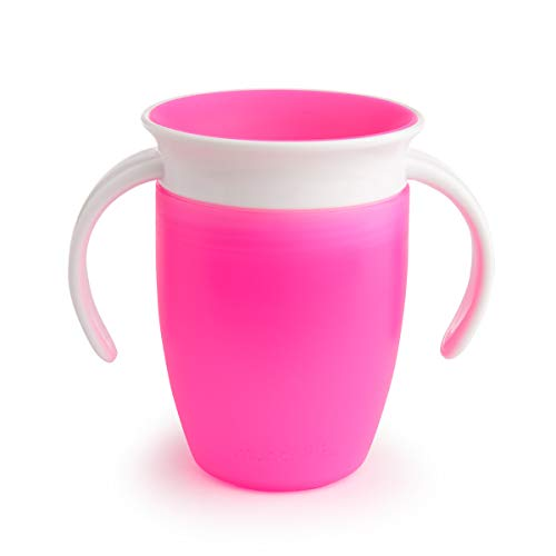 Munchkin Miracle 360 Degree Trainer Cup, 7 oz/207 ml, Pink