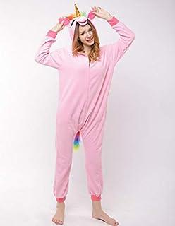 ce76326532c4f Sweetheart -LMM Polaire Combinaison Pyjama Licorne pour Femme Adulte Dessin  animé Animal Halloween Costume de