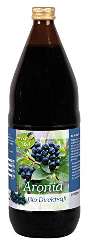 Kopp Vital Bio-Aronia-Saft | 1 Liter | 100% Direktsaft | Ohne Gentechnik | Zusatzstofffrei | Glutenfrei | Lakotsefrei | Vegan