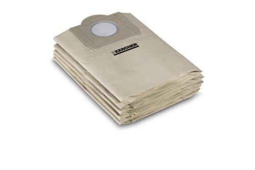 Kärcher Papierfiltertüten 10 Stück (geeignet für Kärcher Nass- und Trockensauger K 2001, NT 211)