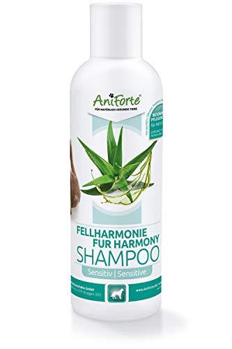 AniForte Fellharmonie Hundeshampoo Sensitiv Aloe Vera 200ml - natürliche Pflege für Fell & Haut, Shampoo frei von Farbstoffen & Parfum, Pflegeshampoo für Sensible Hunde
