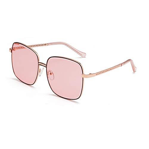 Gafas de Sol Gafas De Sol Retro De Gran Tamaño para Mujer, De Marca De Lujo, De Plástico, De Color Metálico, Cuadradas, Gafas De Sol para Hombre, Gafas Grandes Vintage, Sombras Uv400 C5