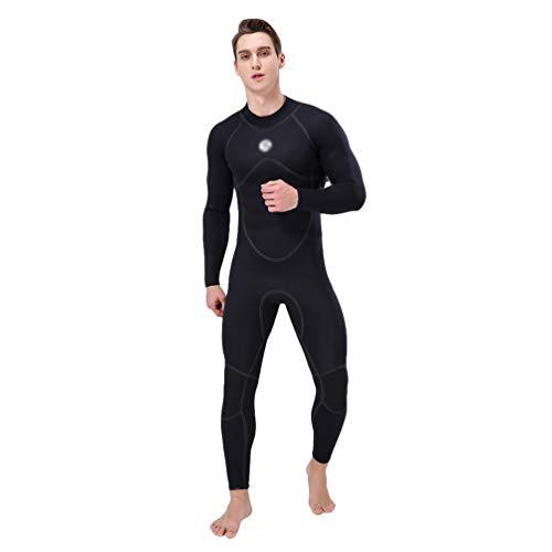 Wenchuang Traje de Neopreno de 3 mm para Hombre - Traje de Buceo de Cuerpo CompletoCómodo Mantener Calor para Verano, Vacaciones y Buceo (Negro, 3XL)