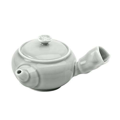 DLRBWAN Tetera Cerámica Lado Handle Pot Soot Glaze Japonés Kung Fu Tea Ceremonia Tea Maker Single Pot