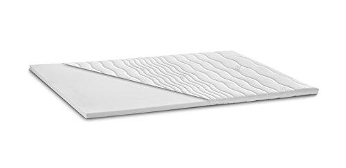 Kaltschaum Topper Matratzenauflage | 7 cm Gesamthöhe | abnehmbarer und waschbarer Bezug | Classic Bezug | H3 - fest | 90 x 200 cm