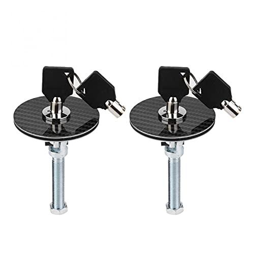 SSXPNJALQ Coche Universal Motor Capucha Cubierta Bloqueo Kit Pin Pin Kit Lanzamiento rápido Aleación de Aluminio Bonnetts Bonnetets de Fibra de Carbono Pestillo