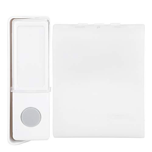 12V deurbel, Bewinner Wireless Button deurbel, met 7 soorten flitslampkleuren, 200m ontvangstafstand 32 muziekstukken optioneel, Home Security Rainproof Doorbell
