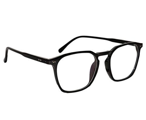 Peter Jones Black Square Medium Unisex Optical Frame (110B)