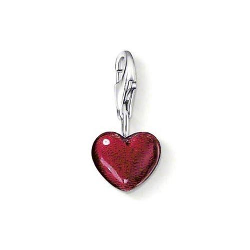 Thomas Sabo Damen-Charm-Anhänger rotes Herz 925 Sterling Silber 0794-007-10