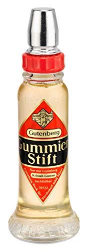Gutenberg 70728 Kristall Gummi Klebestift, Glasflasche, 56g