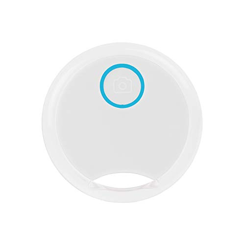 Mini Gato/Perro Localizador de Seguimiento GPS, Inteligente Anti-pérdida para niño/Mascota, Redondo Impermeable Dispositivo de alarmas Bluetooth (Nuevo25-Blanco, One 1 Pack)