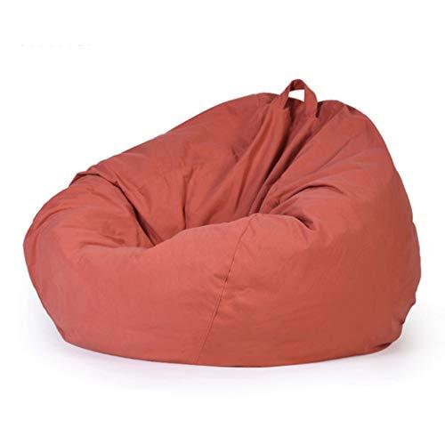 WGYDREAM Sitzsack Beanbag High Back Gaming Lehnstuhl, Große Faule Lounger Indoor Outdoor Stuhl, 90 * 100cm, for Erwachsene und Kinder Bean Bag (Color : Red)