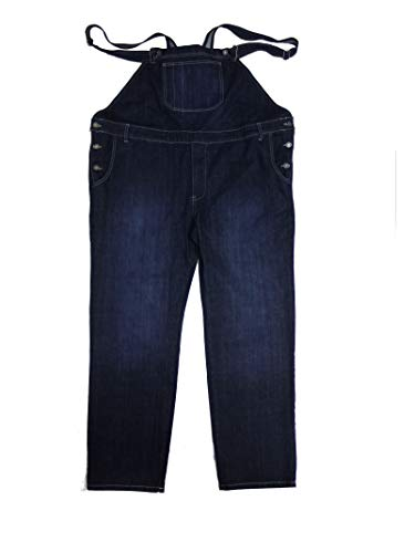 Abraxas Jeans Latzhose in Herrenübergröße, Stonewash-Blue, Größe:6XL