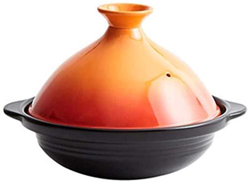 China Ceramic Pots Pote de sopa de cazuela doméstica | Ninguna olla de tagina de humo de aceite con alta resistencia a temperatura | para diferentes estilos de cocina