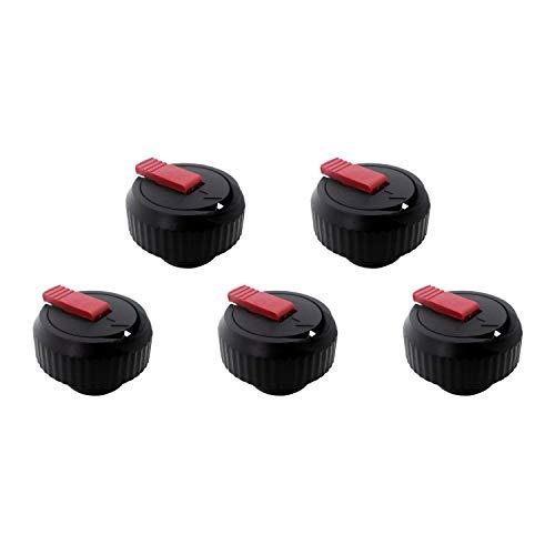 Emsa 9618041600 Ersatz-Verschluss für Isolierflasche Senator 0,35-1,0 l, schwarz (5er Pack)