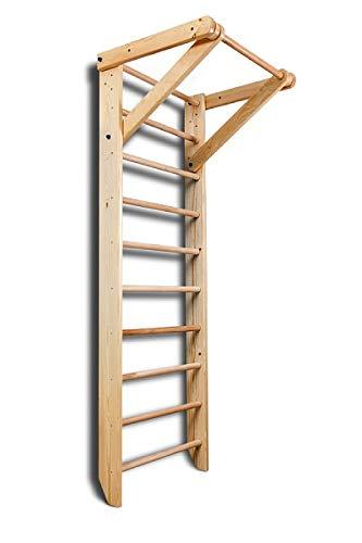 Escalera Sueca Sport-1-220 Espaldera para Gimnasio, Espaldera de Fitness, Complejo Deportivo de Gimnasia, Gimnasia de los niños en casa, Barras