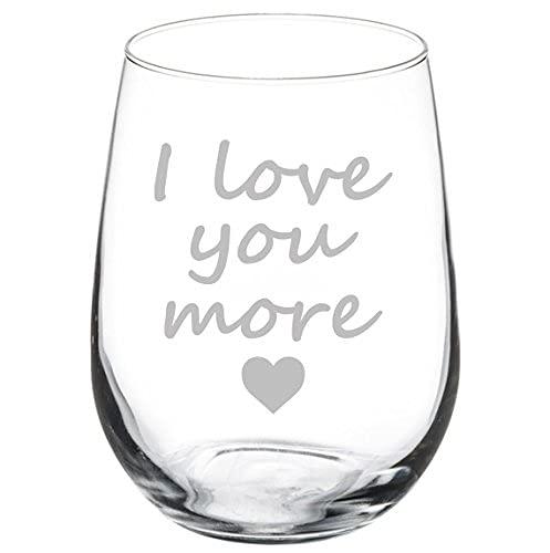 Copa de vino I Love You More 11 oz sin tallo