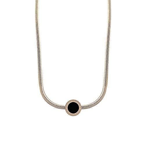 Ahuyongqing Co.,ltd Collar Collar de números Romanos para Mujer