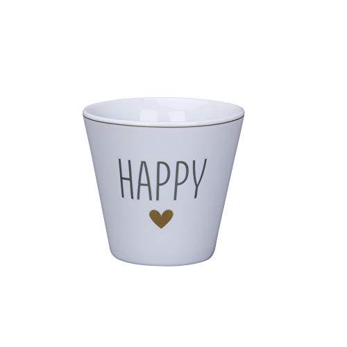 Krasilnikoff - Espressotasse, Espressobecher - Happy - Porzellan - H6 x Ø6 cm - Volumen: 90 ml