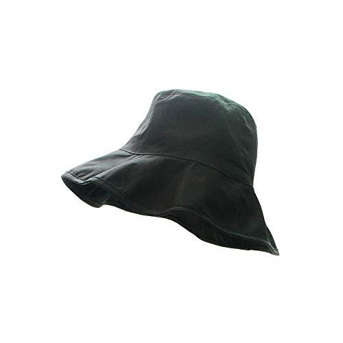 HOSD Panama Hüte für Frauen Unisex Eimer Hut weiblich tragbar faltbar flach einfarbig Sonnenhut Gorras