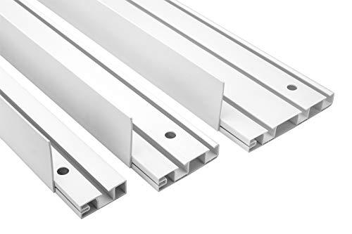 4 Meter  Blende für Gardinenschienen OM   PVC   Hexim   OMB