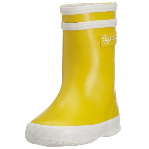 Aigle Unisex-Kinder Baby Flac Gummistiefel, Gelb (Yellow/White 6), 26 EU