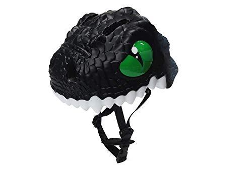 Chloefairy Kinder Helm Dinosaurier Sport Schutzhelm Helm für Radfahren Roller Inliner Skates Rollschuhlaufen Outdoor Aktivitäten 5-15 Jahre (Schwarz, OneSize)