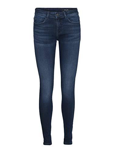 Noisy may Female Skinny Fit Jeans NMLUCY Normal Waist 2934Dark Blue Denim