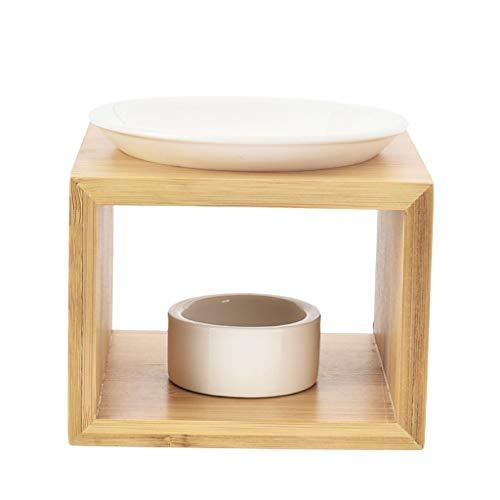 #N/A/a Luce del tè Supporto di Candela di Cera Calda Bruciatore di Olio Essenziale di Candela Aroma Diffusore Regali per Inaugurazione Spa, Yoga a