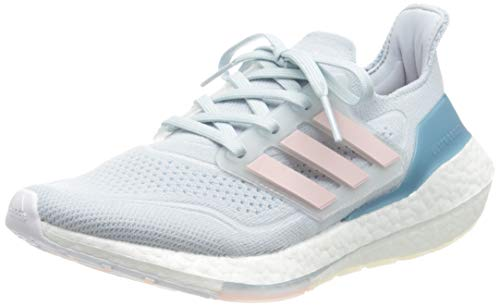adidas Ultraboost 21 W, Zapatillas para Correr Mujer, Halo Blue Fresh Candy Hazy Blue, 40 2/3 EU