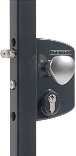 LOCINOX LIKQ U2 - Candado eléctrico (varios modelos, ancho del marco 30-60 mm, carcasa de aluminio, mecanismo de acero inoxidable (40 mm, RAL 7016), color gris antracita