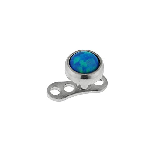 eeddoo Dermal Anchor Opal Aufsatz Blau Titan Dunkel Blau
