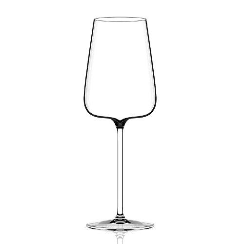 Italesse Set 6 Etoilé Blanc Verre à pied pour vin blanc cc. 570 transparent
