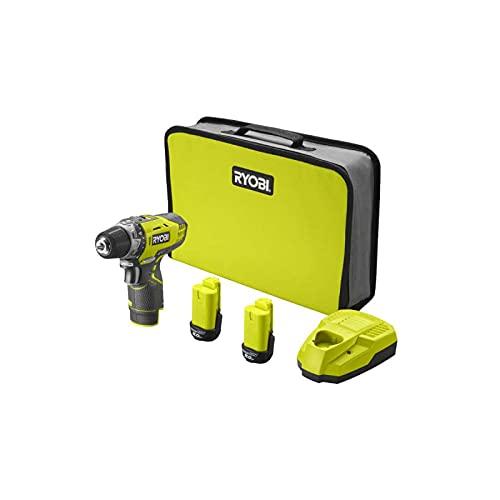 Perceuse-visseuse RYOBI 12V - 2 Batteries 2.0Ah - 1 Chargeur R12DD-220S