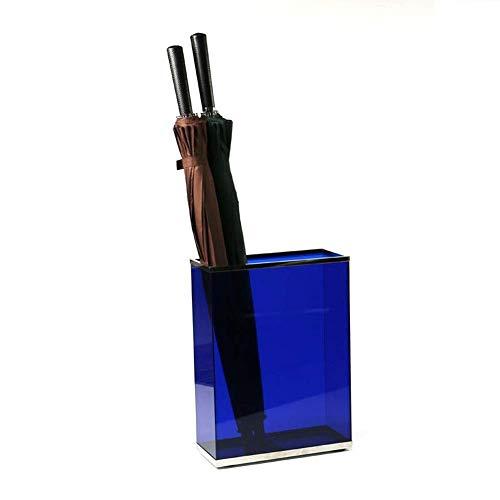 JYDQM Racks de Soporte Paraguas, Soporte Paraguas, Cu de Paraguas de Acero Inoxidable Creativo, Usado para el Puerco Oficina de Hotel Oficina Umbrella Bucket,Azul