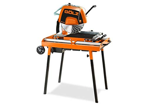 GÖLZ MS350 Steintrennmaschinen MS 350 Compact Heavy Duty Stone Cutting Machine – Made in Germany, Black, Orange