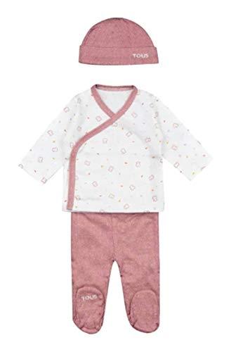 Tous Baby Set 3 Piezas Pijama Y GORRITO CHILL-1401 Marron Talla 0/1 Mes