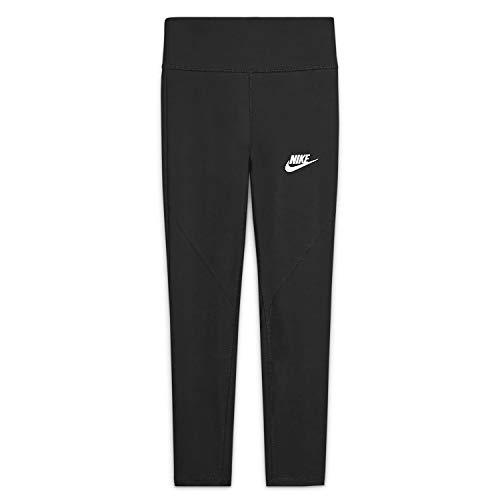 Nike Mädchen Sportswear Favorites Leggings, Schwarz-Weiss, L