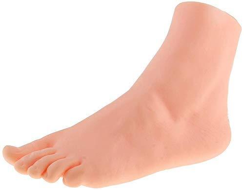 Ybzx (1 Stü, ck Packung Dekobein Dekofuß, Mannequin Fuß, Modell Prä, sentationsfuß, Weiblich Schmuckhalter Linker Fuss zur Fuß, kettchen, Strumpf Socken Display Anzeigen
