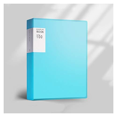 Cartella Portadocumenti Cartella di 100 pagine Multi-funzione A4 Binder Cartella di file di grande capacità di grande capacità Organizzatore del documento per documenti / pittura / musica Punteggi 5 c