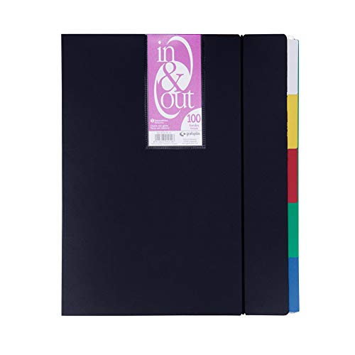 Grafoplás 39409010-Carpeta fundas extraibles, tamaño A4, color negro, 100 fundas
